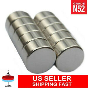 1 2 X 1 4 Inch Neodymium Disc Magnets Super Strong Rare Earth Magnet N52