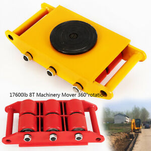 Heavy Duty 360 Rotation Machine Dolly Skate Roller Machinery Mover 8t 17600lb