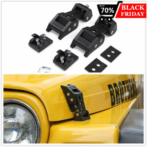 Aluminum Hood Latches Catch Kits For Jeep Wrangler Tj Accessories 1997 2006 Pair