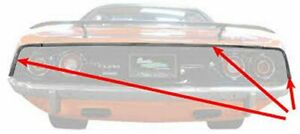70 71 72 73 74 Barracuda Cuda Anodized Rear Tail Moldings Set Made Usa