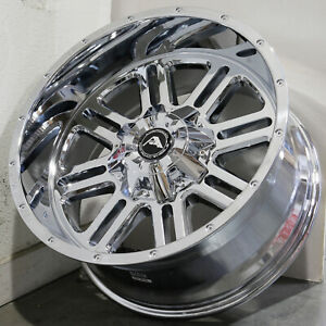 20x10 Chrome Wheels Dsf D6 5x4 5 24 set Of 4