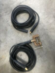 Tweco Equipped 1awg Welding Cable With Tweco Ground Clamp