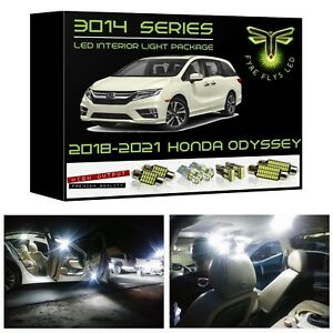 White Led Interior Light Package Kit For 2018 2019 2020 Honda Odyssey 3014series