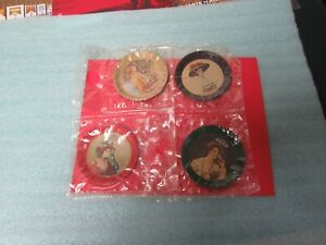 Vintage 1974 =COCA-COLA=OLD Fashioned  Coaster Set=of 4 in Bags=NR