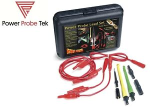 Power Probe Ppls01 Gold Series Lead Set Self Centering Piercing Probes New Usa