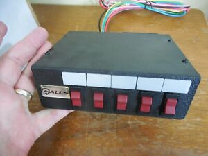Galls Street Thunder 5 Function Switch Panel For Lights Strobe Etc Xl100