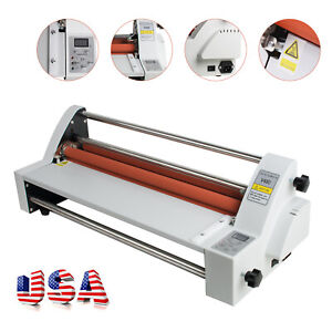 Usa Newest Version 450mm Four Rollers Hot And Cold Roll Laminating Machine 110v