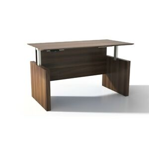 Safco Products Medina Height Adjustable 63 Straight Front Desk
