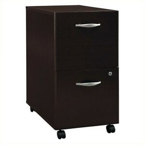 Bush Business Series C 2 Drawer Mobile File Cabinet In Mocha Cherry
