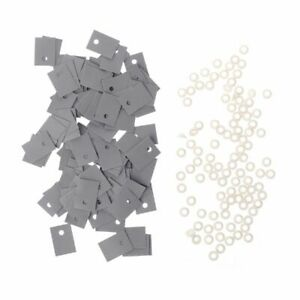 100pcs Plastic Insulation Washer Transistor And Silicone Pads Insulator Set