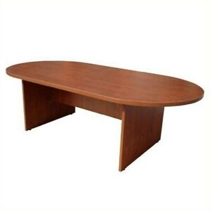 Boss Office Products Racetrack Conference Table mahogany