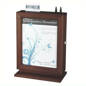 Safco Customizable Wood Suggestion Box In Mahogany