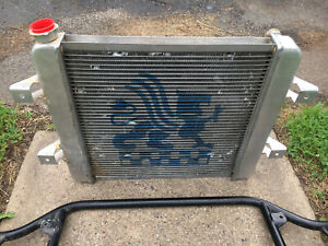 Griffin Radiator Aluminum Racing Single Pass 22 X 19 Gm Chevy In Out Used