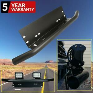 Bull Bar Front Bumper License Plate Holder Mount Bracket Led Light Off Road 20