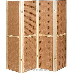 Folding Pegboard Display Craft Display 4 Panel 5 Folds Flat 60 H Peg Board