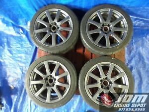 Finalspeed 17 Inch Rims 5x114 3 Lug Pattern With Bridgestone 215 45 R17 Tires
