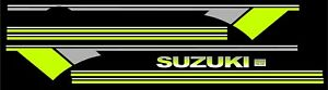 Suzuki Samurai Decals Lines Stickers Calcomanias Graficas Green Gray And White