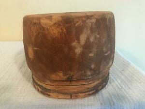 Unique Square Wooden Crown Millinery Wood Block Hat Making Form Mold Brim