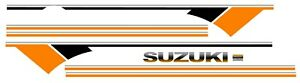 Suzuki Samurai Decals Lines Stickers Calcomanias Graficas Orange Black And White