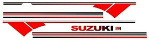 Suzuki Samurai Decals Lines Stickers Calcomanias Graficas From Red To Black
