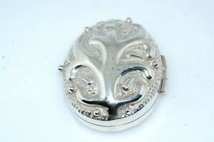 Vintage Sterling Silver Mexican Snuff Pill Trinket Box