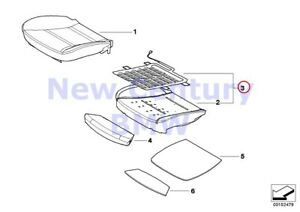 Bmw Genuine Seat Front Upholstery And Cover Right Comfort Oc3 E6 Bmw52109142355