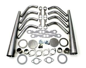 Patriot Exhaust Headers Lakester Weld Up Steel Natural Chevy Small Block Kit