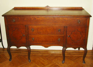 Antique Vintage Queen Anne Buffet Sideboard Pickup Only Long Island Ny