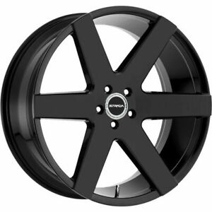 22x9 5 Black Wheels Strada S60 Coda 5x5 5x127 25 set Of 4
