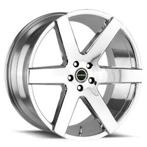 20x8 5 Chrome Wheels Strada S60 Coda 5x112 35 set Of 4
