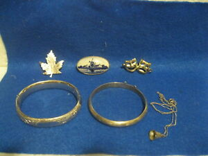 Vintage Lot Of Sterling Silver Misc Jewelry Scrap Or Not