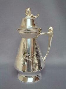 Antique Patent 1865 No 180 Syrup Pitcher Hall Elton Co Wallingford Conn