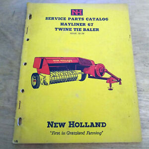 New Holland 67 Hay Baler Parts Manual Catalog