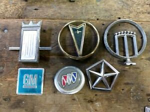 Hood Ornament Emblem Lot Monarch Gm Pontiac Bonneville Dodge Buick Ford 500
