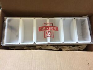 Smirnoff No 21 Condiment Caddy Tray Holder Container For Bar Man Cave Nib