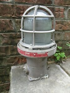Vintage Industrial Warehouse Explosion Proof Light Rab Electric Mfg