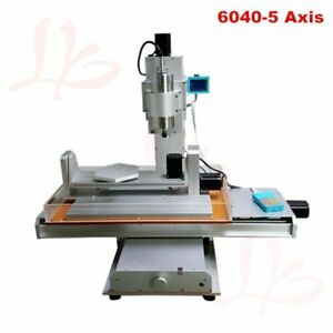 Vertical Metal Milling Machine Cnc 6040 5 Axis Engraving Cutting Router 2200w