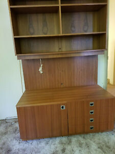 Mcm Buffet Credenza Hutch Mid Century Modern Under Cabinet Light