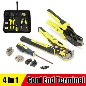4 In 1 Wire Crimpers Ratcheting Terminal Crimping Pliers Home Cord End Tool bag
