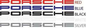 Porsche Small Decal Vinyl 7 X 3 4 Free Shipping Choose From 5 Colors One Pair