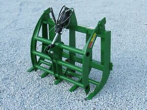 48 Solid Bottom Bucket Grapple With Teeth Attachment Fits Mini Skid Steer Dingo