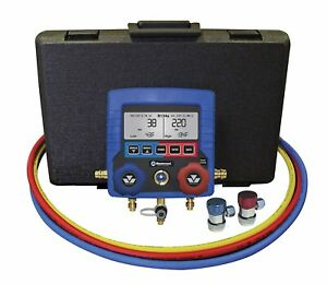 Mastercool 99872a R134a Digital Manifold Set W Auto Refrigerant Oil Cap Readings