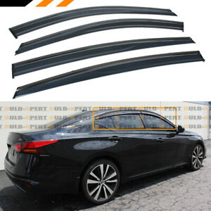 For 2019 2020 Nissan Altima Black Trim Clip on Window Visor Rain Guard Deflector