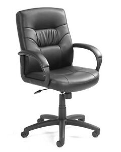 Boss Office Executive Mid Back Leatherplus Chair W Knee Tilt B7507 Office Chair