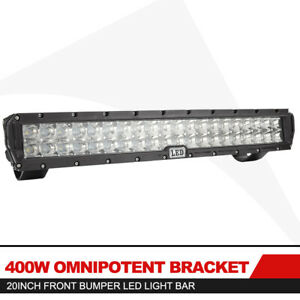 400w 22inch Cree Led Spot Light Bar For Front Bumper Bull Bar Off Road Driving