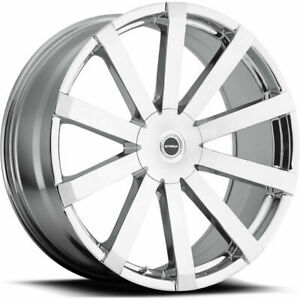 20x8 5 Chrome Wheels Strada S50 Gabbia 5x108 5x114 3 35 set Of 4