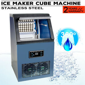 Auto Commercial Ice Maker Cube Machine 50kg Stainless Steel Bar Equipment
