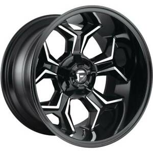 22x12 Black Machined Wheels Fuel Avenger D606 8x180 44 Set Of 4