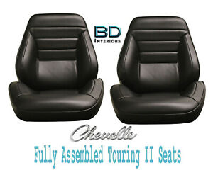 1965 Chevelle El Camino Touring Ii Front Bucket Seats Assembled