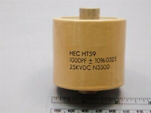 Hec Ht594102ka Ht59 Series 1000pf 25kvdc 10 Ceramic High Voltage Capacitor